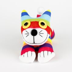 Handmade Sock Cat Kitty Stuffed Animals Doll Baby Toys Christmas Gift New Year Gift Birthday Gift by supersockmonkeys on Etsy https://www.etsy.com/listing/93816729/handmade-sock-cat-kitty-stuffed-animals