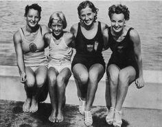bathing caps 1936 - Google Search