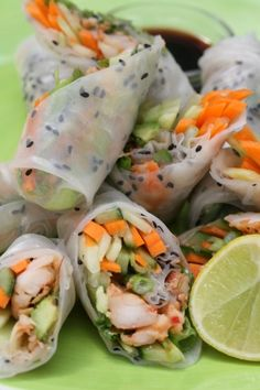 vietnamese rice rolls with prawns   Drizzle and Dip