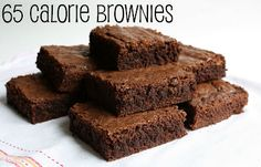 Low calorie brownies!  Note this recipe is for an 8X8 pan and it says it makes 24! Brownies. I don't know about you but that is not how I cut them!