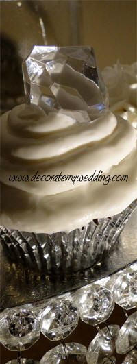 Diamond Cupcake Toppers, @Sarah Chintomby Vanderford Stewart, what do you think about this??