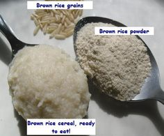 Homemade infant rice cereal