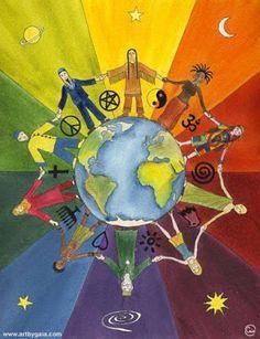 "PEACE ~ WORLD PEACE ""When the power of love overcomes the love of power the world will know Peace."" ************* ""Cuando el poder del amor supere el amor al poder, el mundo conocerá La Paz"". Diversity Poster, Unity In Diversity, Cultural Diversity, Peace On Earth, World Peace, Peace Drawing, Religious Tolerance, Peace Poster, Give Peace A Chance"
