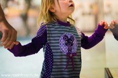 Nähfrosch Nähen für Kinder Sewing for Kids Schnittmuster HippmeGirl von Janeas World Streifen von Astrokatze Stickdatei Maus aus der Serie Waldleben ungefüllt von Lollipops for Breakfast