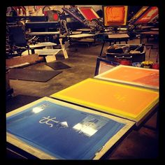 Just preppin screens for the busy week ahead #screenprint #screenprinting #fashion #fashionforward #art #apparel #superiorink