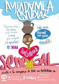 PINTADERAS - campaña Por Ser Niñas: PLAN ESPAÑA