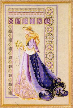 Cross Stitch Craze: Celtic Seasons - Spring a series of four