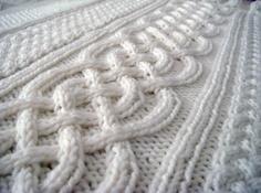 Celtic blanket knitting pattern. $4.00, via Etsy.