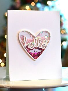 Hello card by JJ Bolton for Paper Smooches - Hello Love die