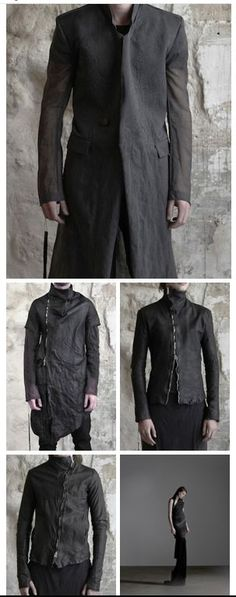 wire-boned zippers & leather thumb-holes. and that's just the men's pieces.