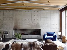 Concrete House | Living Room | Auhaus Architecture |Est Living