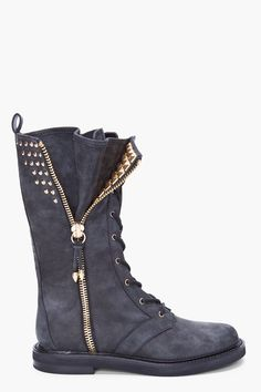 black suede boots - in love!