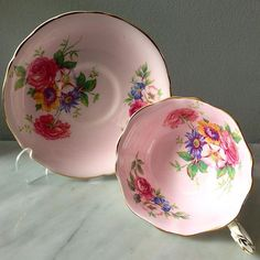 Vintage Pink Teacup by Paragon England