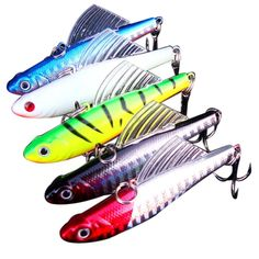 14g 6.5cm 1pcs winter fishing lure hard bait VIB with lead inside ice sea fishing tackle diving swivel jig wobbler lure