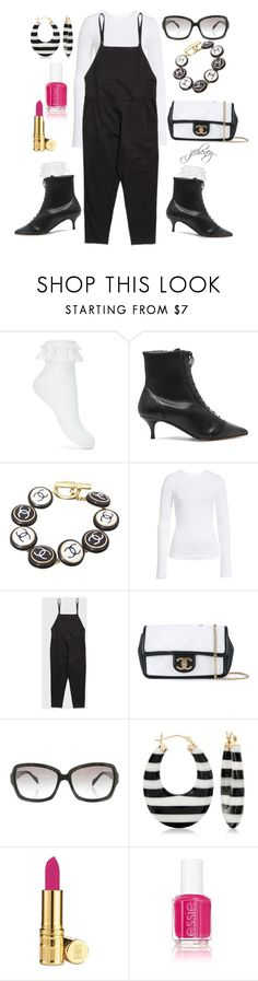 """Lace Socks and Boots, Oh My"" by jfcheney ❤ liked on Polyvore featuring Miss Selfridge, Tabitha Simmons, Chanel, BP., Base Range, Ross-Simons, Elizabeth Arden and Essie"