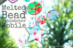 Melted Bead suncatcher mobile