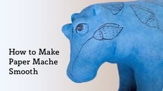 Do you love creating paper mache sculptures, but wish you could make the final sculpture smoother? This video shows you some products you can use to give a smooth, professional finish to your paper mache projects. Paper Mache Mask, Making Paper Mache, Paper Mache Sculpture, Sculpture Art, Paper Mache Projects, Paper Mache Crafts, Cardboard Crafts, Torn Paper, Paper Strips