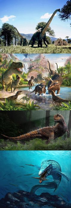 Dinosaurs ~Yes, dinosaurs were real. Creation is a myth, as are your gods.