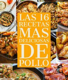 Las 16 recetas mas deliciosas de Pollo – Manitas DIY Pollo Piccata, Ceviche, Tasty, Chicken, Meat, Recipes, Diy, Vegetarian, Chicken Cutlets