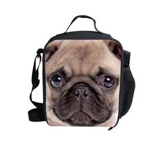 BIGCAR Animal Pug Outdoor Cooler Thermal Waterproof Lunch Bag Tote Box Container #BIGCAR