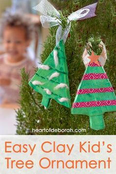 diy easy clay kids ornament make this adorable christmas tree craft based off of the