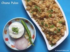 Chana Pulao is a delicious and mildly spiced pulao that is prepared using rice, boiled chickpeas or chana or kabuli chana, onion, tomato and spices. If you