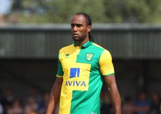 Cameron Jerome during a pre season friendly match at Emerald Park, Gorleston, before the 2015/16 season. He scored the winner against Walsall in Norwich