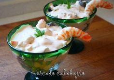 Cocktail de Langostinos. Mercado Calabajío. Paso a Paso. (Receipe in Spanish Language)