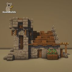 Minecraft Small Castle, Casa Medieval Minecraft, Minecraft Building Guide, Minecraft House Plans, Minecraft Seed, Cute Minecraft Houses, Minecraft Blueprints, Cool Minecraft, Minecraft Projects