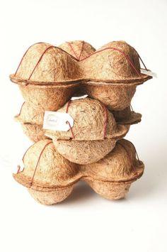 Botiá — Nests for Food Burger Packaging, Egg Packaging, Food Packaging Design, Print Packaging, Packaging Design Inspiration, Biodegradable Packaging, Biodegradable Products, Ecology Design, Red Dot Design