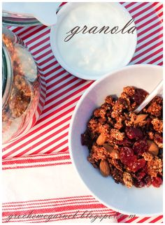 granola-03 Granola, Cereal, Food And Drink, Chicken, Breakfast, Recipes, Impreza, Mario, Diet