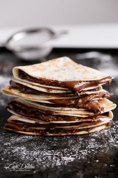 Somehow when we call them nutella quesadillas, they seem less indulgent than chocolate crepes.
