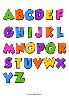 alfabeto-5 Alphabet Templates, Alphabet Crafts, Typographie Fonts, All About Me Preschool, Disney Alphabet, Passion Planner, School Worksheets, Graffiti Alphabet, Lettering Tutorial
