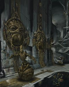 Steampunked Dwemer Animunculi (Elder Scrolls: Skyrim) there temples were my favoutie cause was cool and epic looking