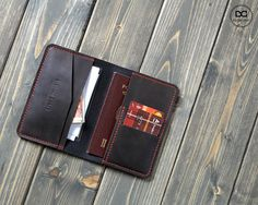 Travel passport holder travel gift family travel wallet Distressed Leather, Passport Wallet, Passport Cover, Thailand Travel Backpacking, Crea Cuir, Leather Projects, Leather Crafts, Inspirational Wallpapers, Leather