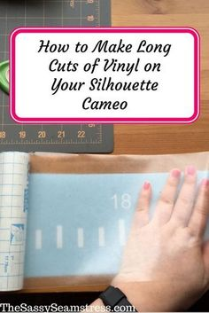 how to make long cuts of vinyle with your Silhouette Cameo