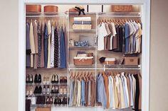 Wire reach-in closet with convenient shoe storage