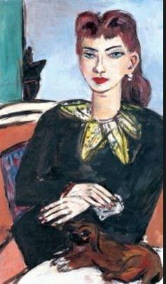 Max Beckmann - Quappi on Blue .h Butchy, 1943 arte Max Beckmann, Antoine Bourdelle, Carl Friedrich, Chaim Soutine, Expressionist Artists, Gravure, Figurative Art, Sculpture, Lovers Art