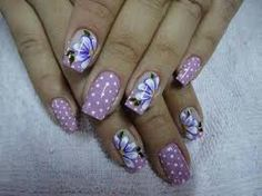 uñas decoradas con flores - Buscar con Google