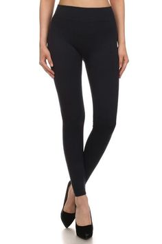 Solid Black French Terry Leggings  One Size Fits All - $17  Fast FREE Shipping! Limited Quantities! Shop Now: https://www.shoppinwithsailin.com/collections/leggings/products/solid-black-leggings?variant=26306222153
