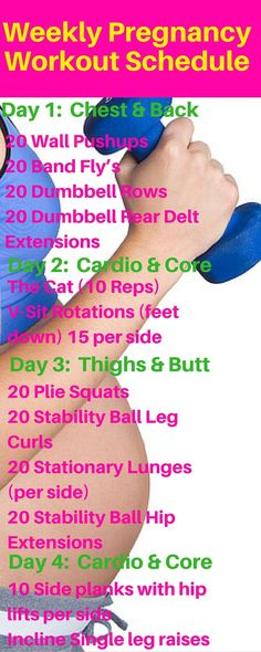 Weekly Pregnancy Workout for not gaining a ton of weight during pregnancy. http://michellemariefit.com/weekly-pregnancy-workout-schedule/