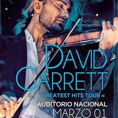 David Garret regresa a México el 01 de Marzo el Auditorio Nacional se engalanará con el violinista. Tendremos increíbles paquetes para este evento. Pronto todos los detalles