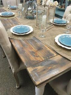 Farmhouse Table - Urbanlux Home #rusticdecor