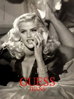 Anna Nicole Smith for Guess.