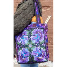 Item 96 - Hand Made Accessories Medium Market Bag (color 3 purple) | Plymouth Yarn