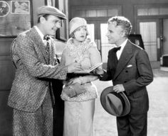 """William Haines, Marion Davies & Charlie Chaplin in the 1928 silent comedy """"Show People. Silent Comedy, Silent Film, Charlie Chaplin, Charles Spencer Chaplin, Marion Davies, Joan Bennett, Home Movies, Director, The Life"""