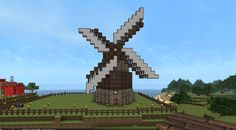 My windmill (I use the John Smith texture pack). Created by EasyBeef.