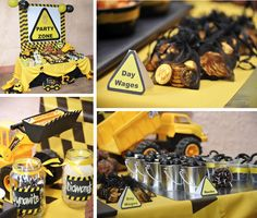 Construction Theme Party Decor | Construction themed birthday party via Kara's Party Ideas www ...
