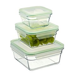 Martha Stewart Collection 12 Piece Glass Food Storage Container Set