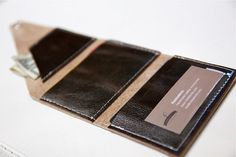 leather wallet .